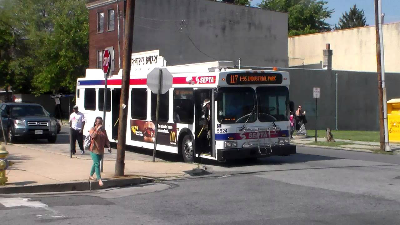 Septa Bus New Flyer D40lf 5824 On Route 117 Youtube