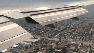 LANDING AT LAX FROM LHR ON A 747 -400