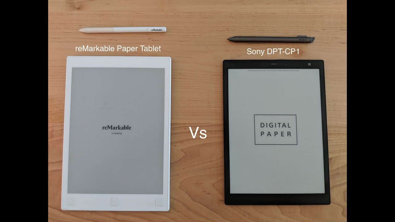 Kindle Vs Sony Reader: Review Of The Sony DPT CP1 & Comparison To The ReMarkab