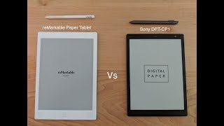 Review of the Sony DPT CP1 & comparison to the reMarkable e-ink tablet