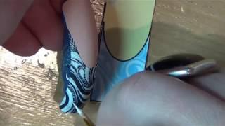 Рисуем кружева на Новый год/Новогодний дизайн ногтей/Зимний дизайн ногтей/Роспись ногтей.