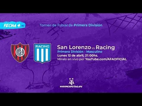 San Lorenzo - Racing Club - Fecha 4 - Torneo 2021 de Futsal de Primera División