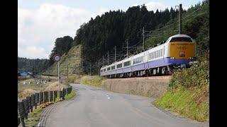 (非HD)JR北海道五稜郭工場のキハ56.津軽線。はつかり蟹田付近の海峡号の走行動画です