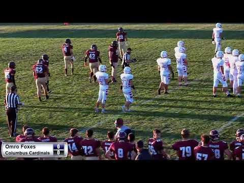 High School Football - Columbus At Omro