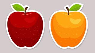 Gambar cover Creative apple sticker vector graphics - Coreldraw tutorials