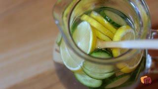 Salatalıklı ve Limonlu Tazeleyici Su Tarifi