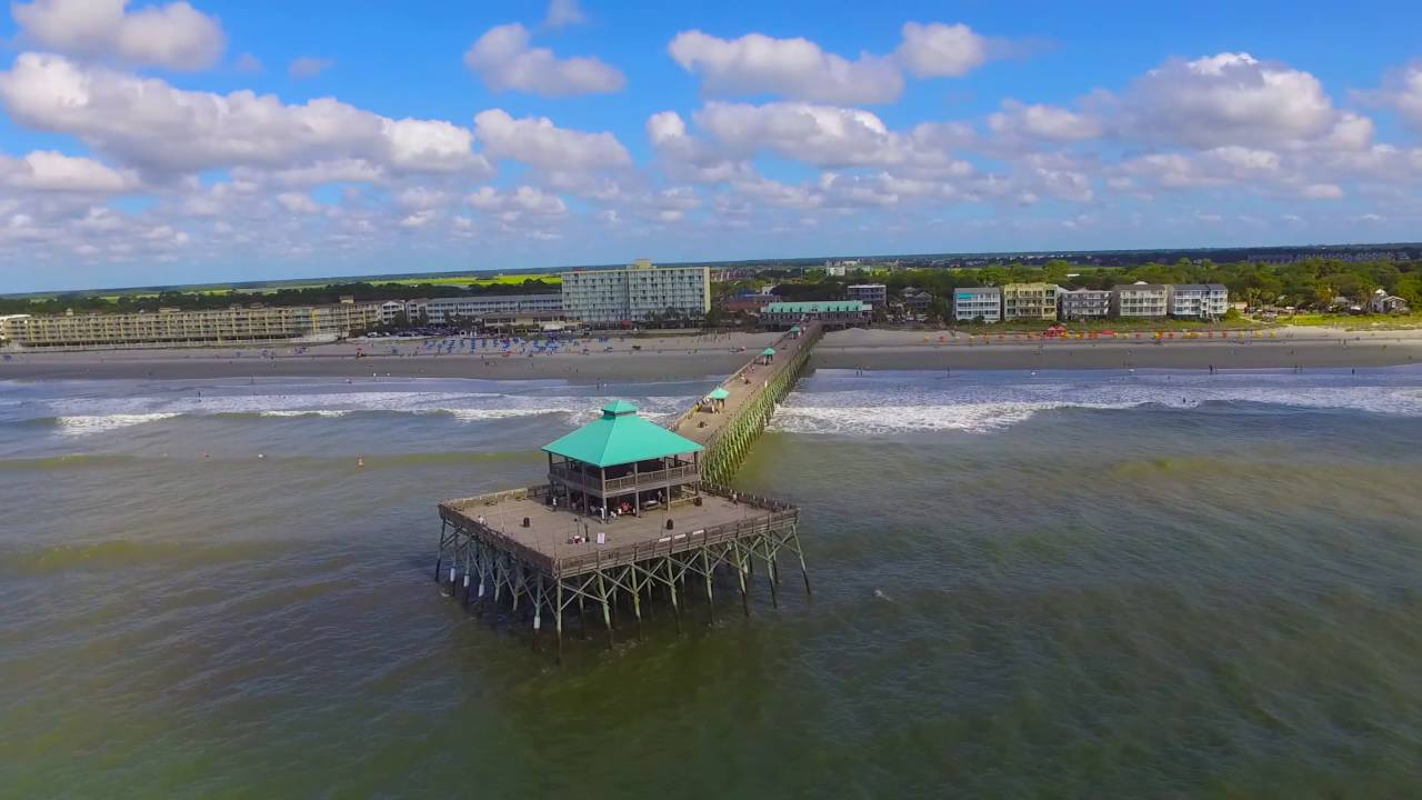 Fishing pier folly beach sc youtube for Folly beach fishing