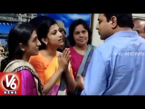 Minister KTR Fires On Collector Amrapali And Commissioner Sruthi Ohja   Warangal   V6 News