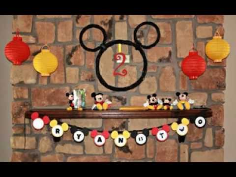 Easy DIY Mickey mouse birthday party decoration ideas YouTube