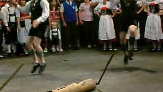 Oktoberfest 2009 Blumenau - Dança do lenhador (Holzhacker Tanz)