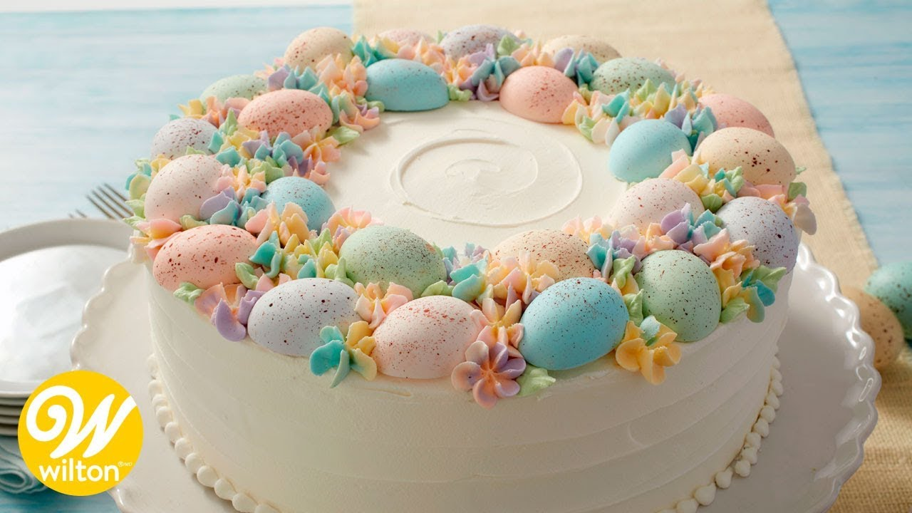 How To Make An Easter Egg Cake Youtube