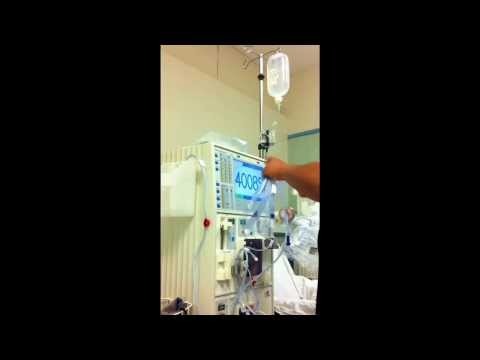 how to set up a dialysis machine