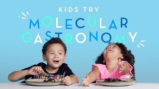 Kids Try Molecular Gastronomy | Kids Try | HiHo Kids