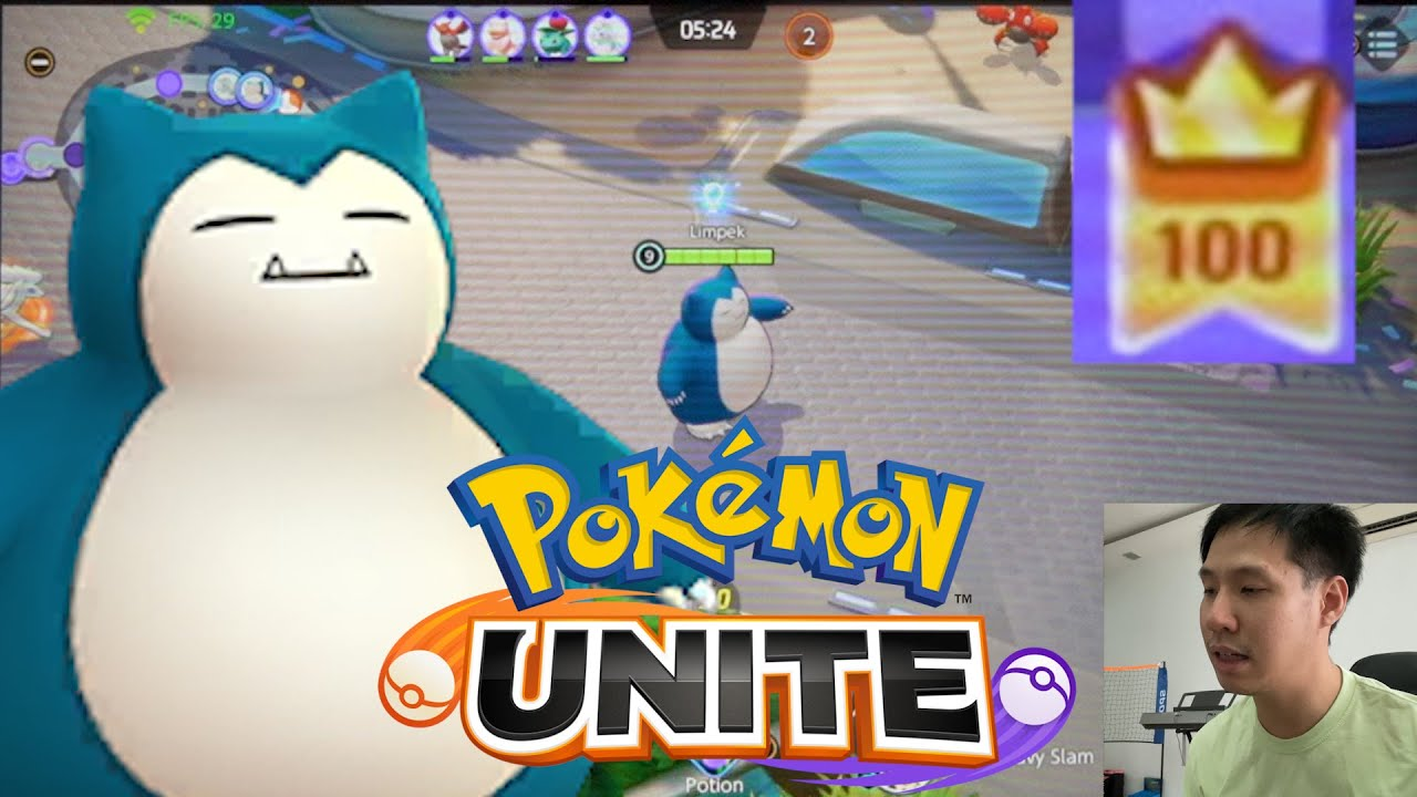 Pokémon UNITE 正式推出了!卡比兽 SNORLAX 100分 Gameplay!!!