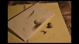 Il chiaroscuro sfumato  (con una sola matita)-  Esercizi per effettuarlo correttamente