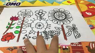 Hướng dẫn tô màu sinh động bức tranh về hoa ngày Tết