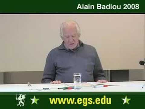 Alain Badiou. What Is Love. Sexuality And Desire. 2008. 4/12