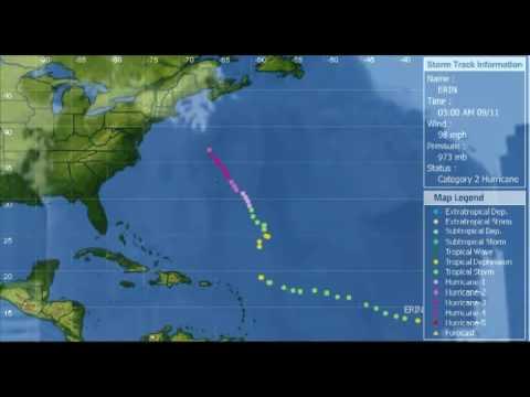 Path Of Hurricane Erin September 2001 9/11 Coincidence(?)