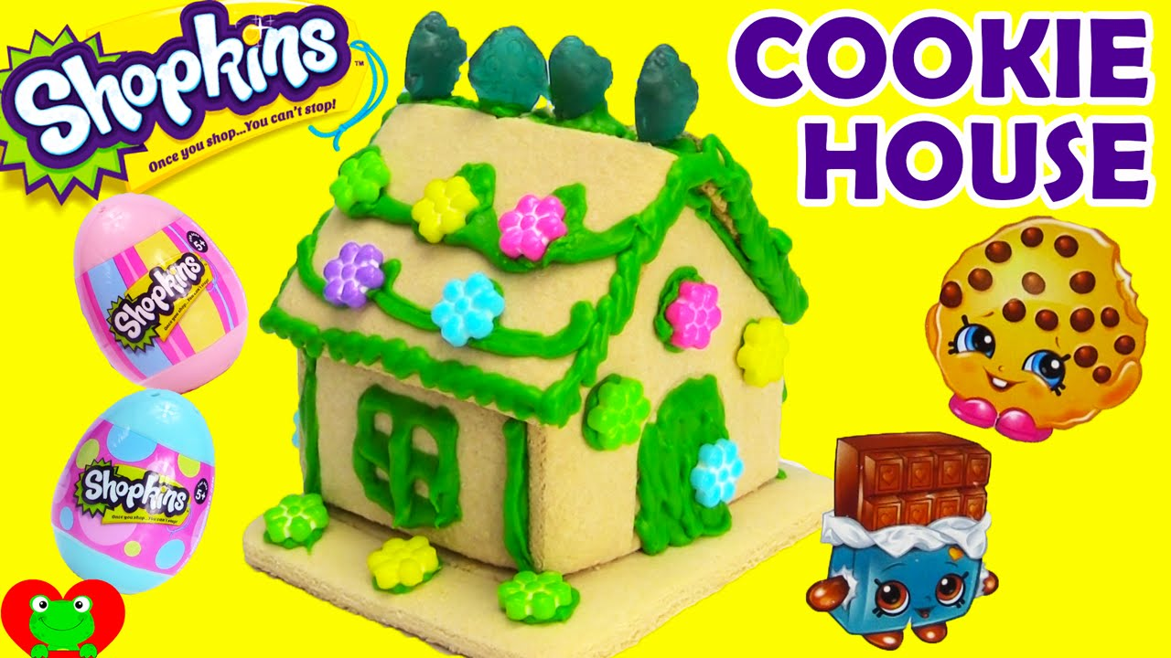 Shopkins Sweets Shop Vanilla Cookie House Decorating Kit Youtube