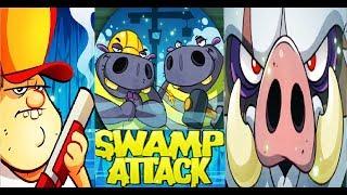Swamp Attack  НОВЫЕ БОССЫ НОВОЕ ОБНОВЛЕНИЕ  Игра на андроид для детей БОЛОТНАЯ АТАКА #Мобильные игры