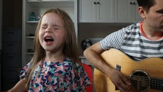 FIREWORK - KATY PERRY (LIVE COVER BY 4-YEAR-OLD CLAIRE RYANN AND DAD) thumbnail