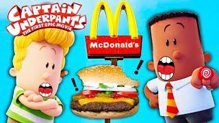 MCDONALDS Drive Thru with Captain Underpants Hamburger Making Contest