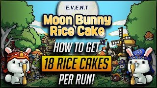 [MS] New Moon Bunny Rice Cake PQ!! How To Get 18 Rice Cakes Per Run!!! [MapleStory M]