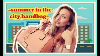 what's in my bag | summer in the city edition | mariatolio