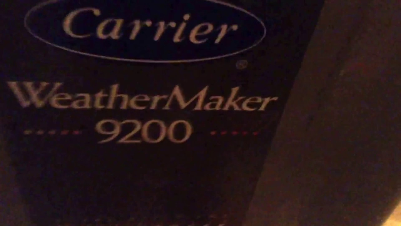 Carrier Weathermaker 9200 Gas Furnace