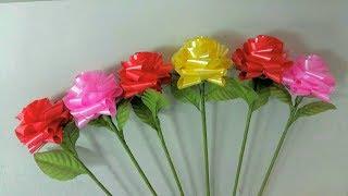 วิธีพับดอกกุหลาบบาน วันวาเลนไทน์ 2 by มายมิ้นท์(Ribbon Rose Valentine's day)