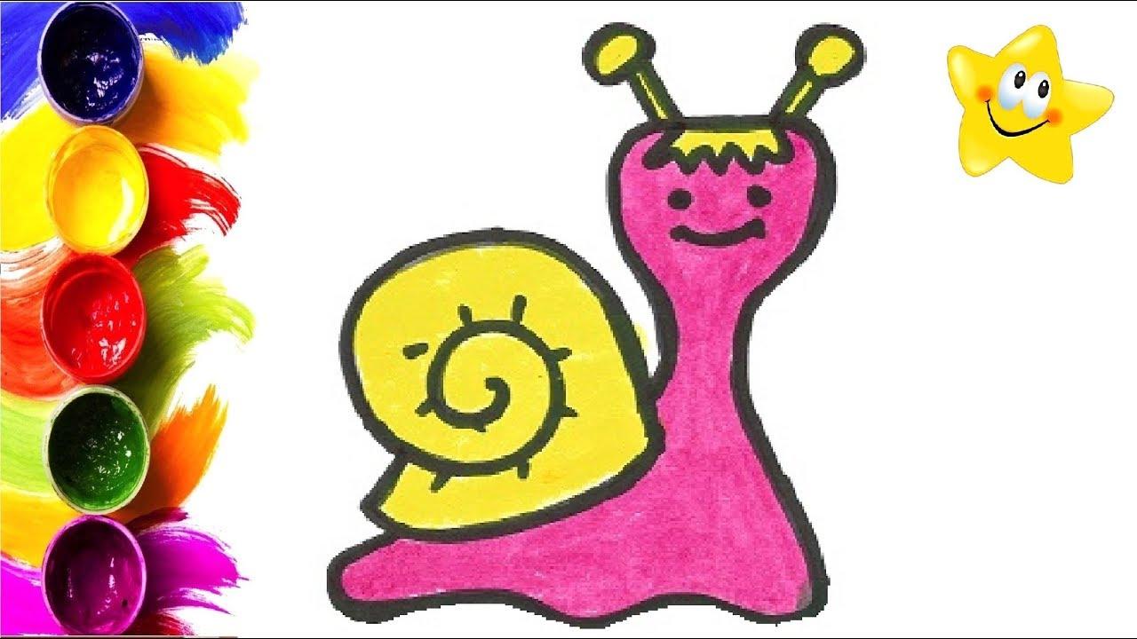 Рисунок, раскраска для детей УЛИТКА. Мультик - Раскраска ...