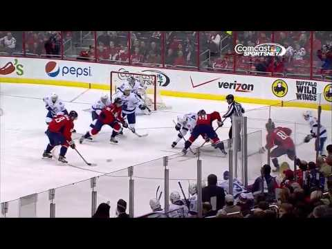 Alex Ovechkin Rips One Off The Faceoff