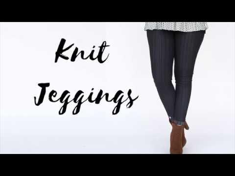 4bc9a310e33dd Agnes & Dora Knit Jeggings - YouTube