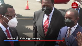 Malawi President Lazarus Chakwera arrives in the country for a three-day state visit