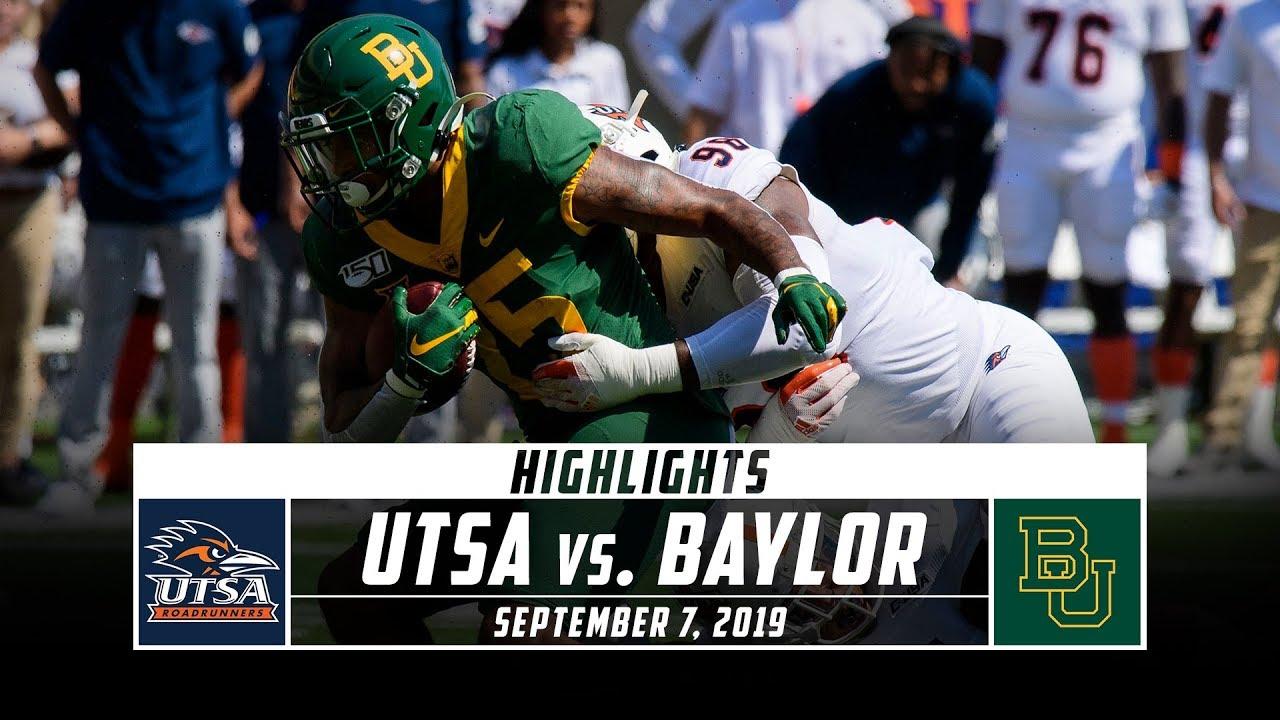 Utsa Vs Baylor Football Highlights 2019 Stadium