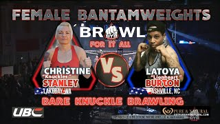 "Female Bare knuckle fight This is must see TV. Latoya ""Lionheart"" Vs. Christina ""Knuckles"" 👊🏾"