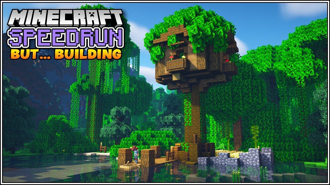 Minecraft Speedrun, But for Building!!! [Minecraft Treehouse]