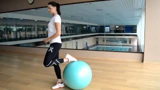 Тренировка с фитболом. Упражнения для похудения