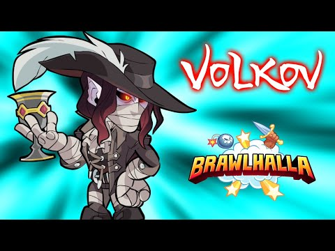 VOLKOV The Vampire King • ALL SKINS • Brawlhalla 1v1 Gameplay