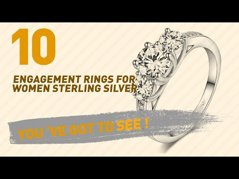 Engagement Rings For Women Sterling Silver Top 10 Collection // UK New & Popular 2017