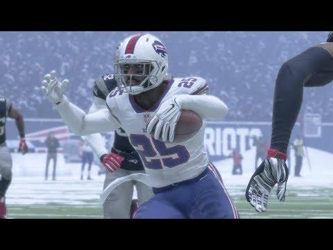 NFL Sunday Football 12/24 - New England Patriots vs Buffalo Bills - Full NFL Game (NFL Madden 18)
