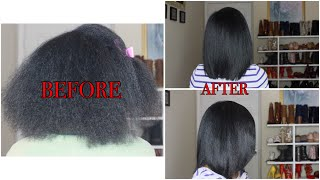How To: Straighten Natural Hair Like A Pro Remix