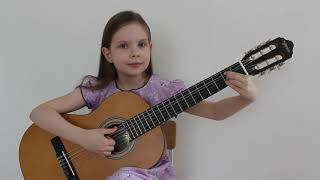 Цыганочка.  Гитара.  Дети играют.  Girl playing guitar.