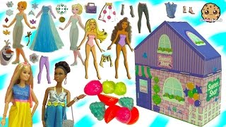 Shopkins, Barbie Clothing, Disney Frozen Sticker Dress Up Dolls + More - Dollar Tree Store Haul thumbnail