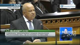 Finance Minister Pravin Gordhan delivers S.A's toughest Budget