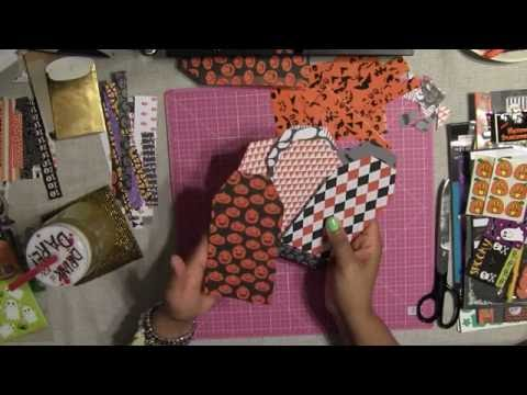 "How to Make Simple Flipbook Tutorial "" Halloween Coffin """