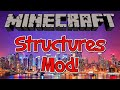 Minecraft 1.7.10 Mod - The Instant Massive Structures Mod! | EPIC JETS AND ROLLER COASTERS!