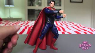 Ungrownups Video Transmission: Mattel Movie Masters Man of Steel Superman and Jor-El