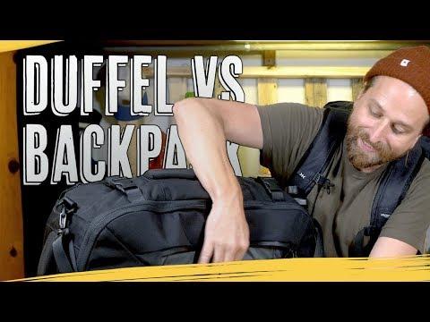 TRAVEL BACKPACKS vs DUFFEL BAGS
