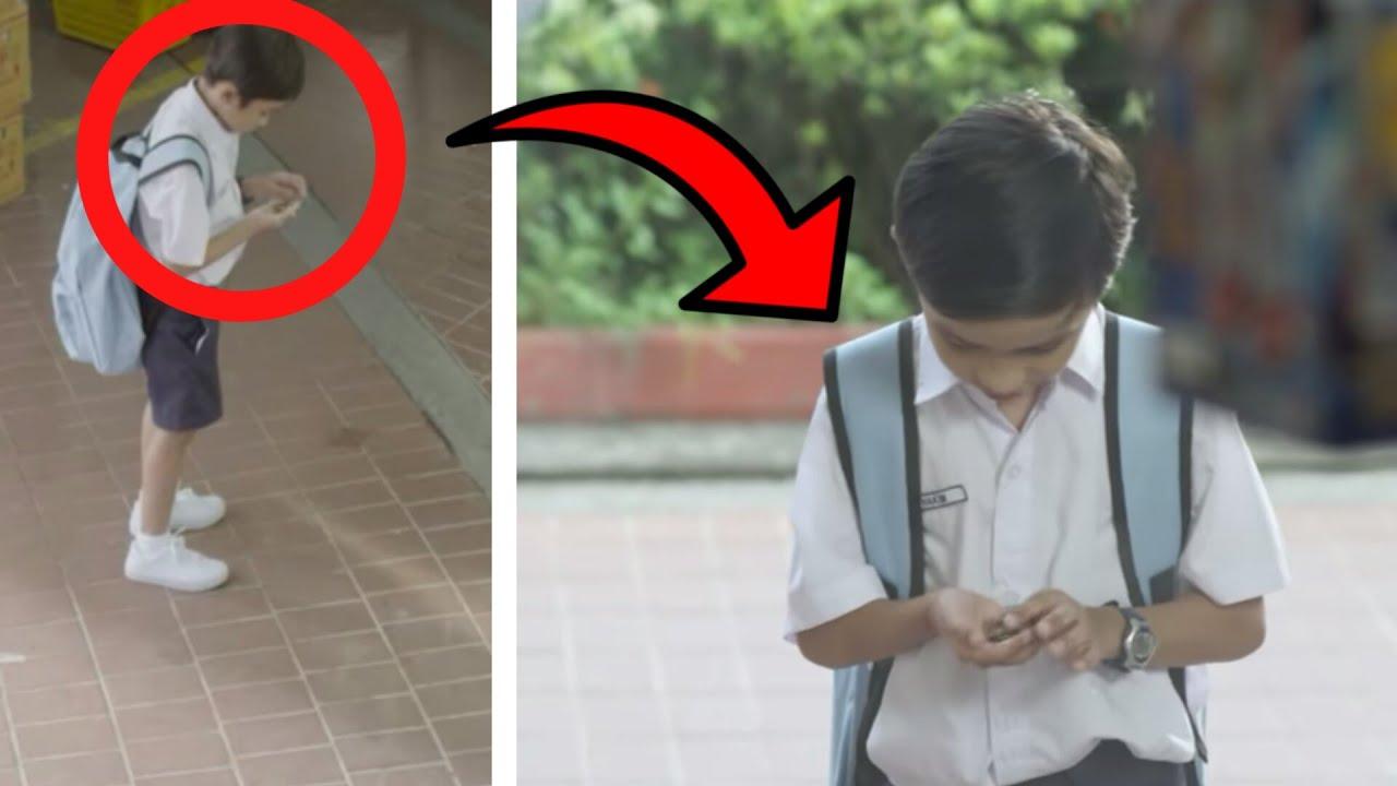 أراد هذا الطفل ان يعد مصروفه قبل الذهاب إلى المدرسة .. ولكن لن تصدق ما حدث ! شاهد المفاجئة